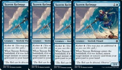 Zendikar Rising Blue Common NM 4x Tazeem Roilmage