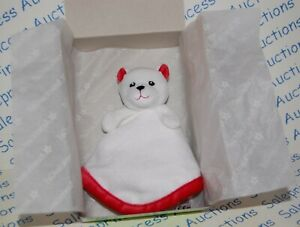 New American Girl Bitty Baby Polar Bear Blanket Lovie~Red /& White NEW FF1A