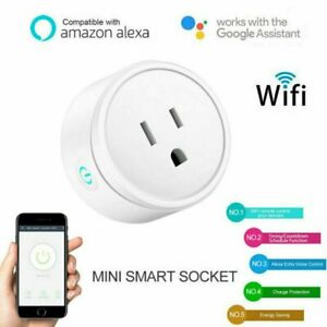 Details about Smart Power Socket Wifi Wireless Switch Outlet For Google  Home Amazon Echo Alexa