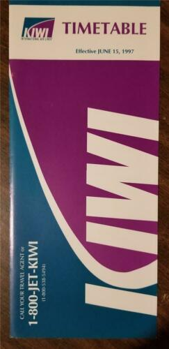 KIWI AIRLINES Timetable June 15 1997 A308