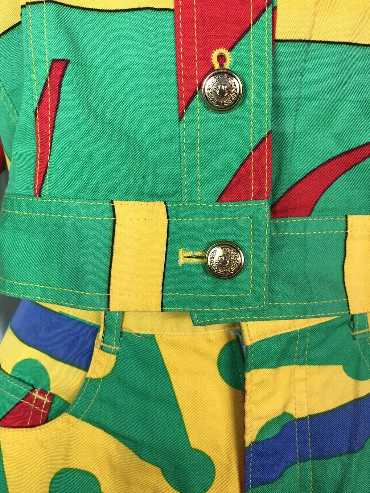 Rare Vtg Moschino Jeans 90s Green Jacket & Mini S… - image 7