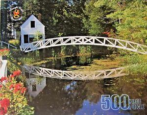 NIP-Merrigold-Press-500-Piece-Puzzle-034-White-Bridge-Accadia-Maine-034-Unopened