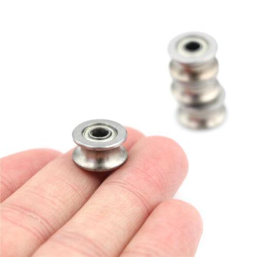 4PCS 4*13*7MM 624UU HCS U Groove Guide Pulley Rail Ball Bearings Wheel SP