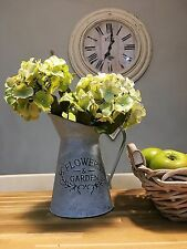 Galvanised French  Vintage decorative Jug, Pitcher, Shabby Chic Vase - New