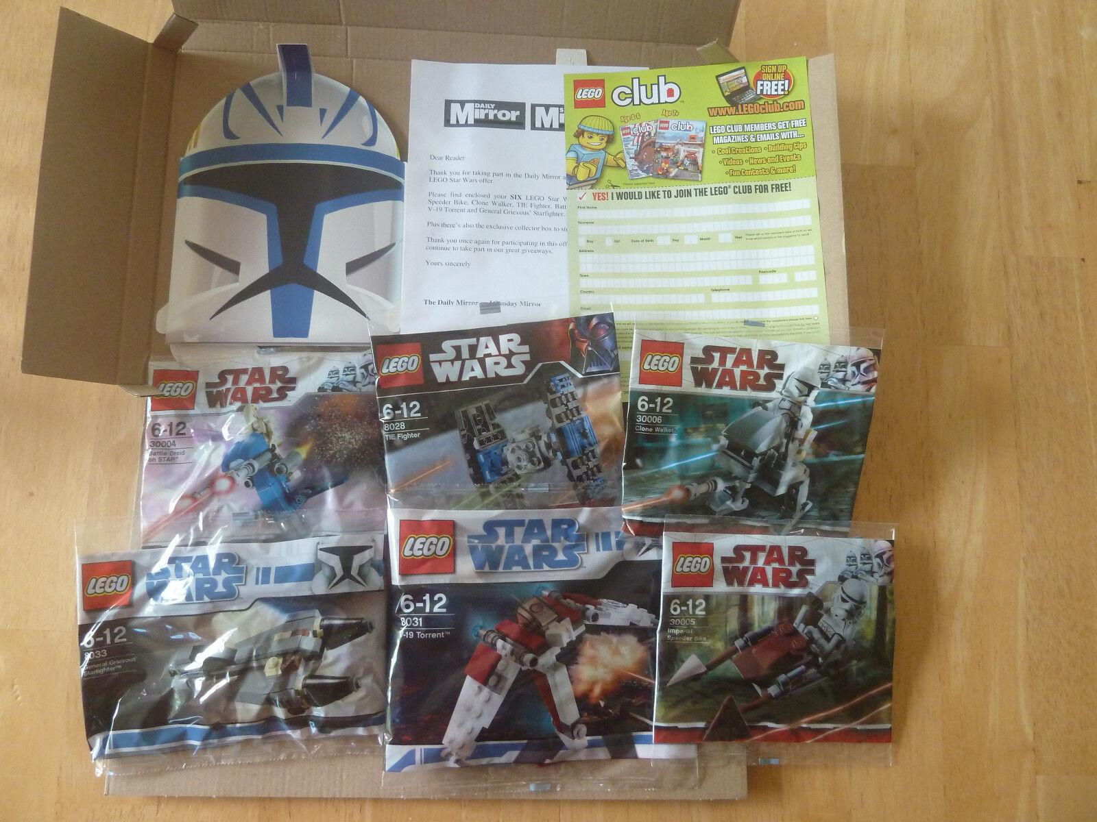 6 x Lego Set -  6 Star Wars Collector Series Plus Star Wars Gift Box - BNIB 9