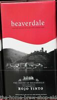 Beaverdale Red Wine Kit Rojo Tinto - Home Brewing - 30 Bottle - 23 Ltrs