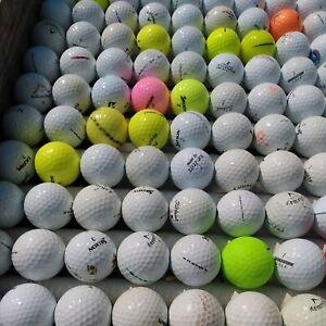 100 Golf Balls 5/4/3 Grade  mixed brands Titleist to top flite