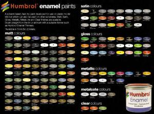 HUMBROL-Enamel-Paint-Gloss-Matt-Satin-Varnish-14ml-Choose-Colour