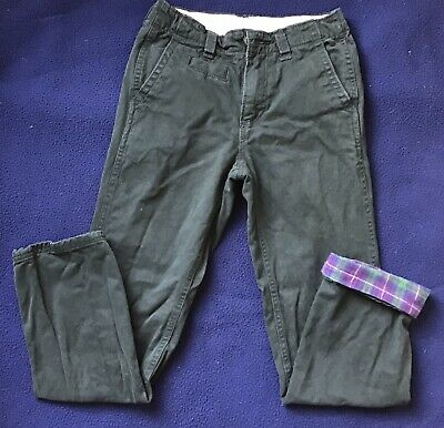Boys` New GAP Flannel Lined Warm Winter Jeans Age 12 Dark Blue Authentic