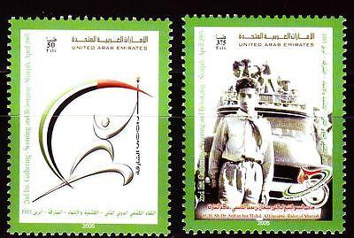 Vereinigte Arabische Emirate 787/88 Pfadfindertreffen World Scout Jamboree Sharjah StäRkung Von Sehnen Und Knochen Uae 2004 ** Mi Briefmarken