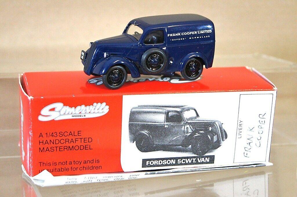 Somerville modellololi 1949 FORDSON e494c 5cwt Van FRANK Cooper Marmalade Oxford NA