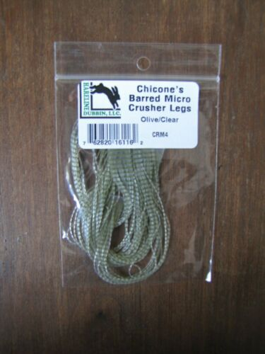 Fly Tying-Hareline chicone /'Barred micro broyeur JAMBES-Olive//Clair