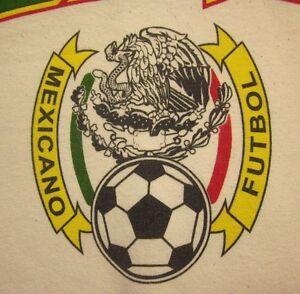 new product 03118 5746d Image is loading MEXICO-med-soccer-tee-Federacion-Mexicana-Futbol-logo-