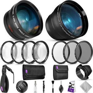 52mm-Kit-Accesorio-indispensable-para-Nikon-DSLR-Paquete-Con-Lentes-Vivitar