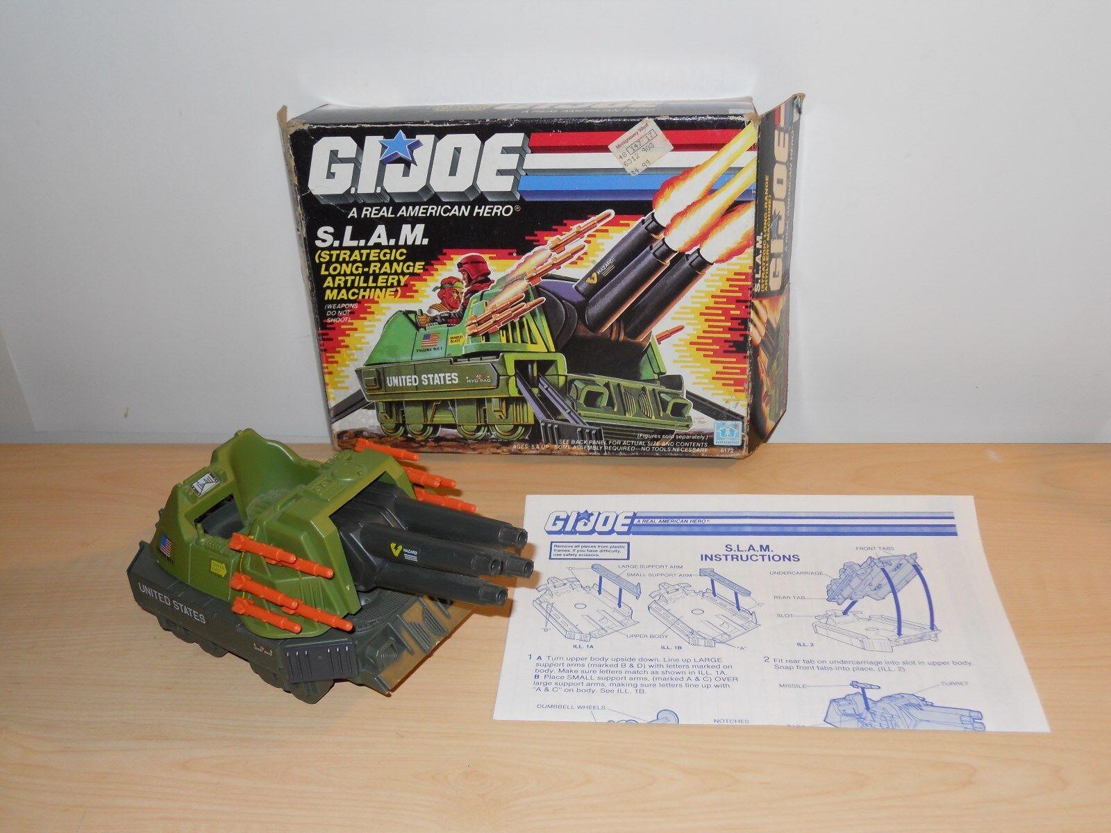 G.I. JOE- SLAM 100% COMPLETE W  BOX- 1987