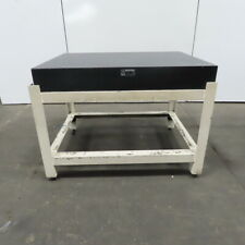 48 X 36 X 6 12 Thick Newly Resurfaced Granite Surface Inspection Plate Table