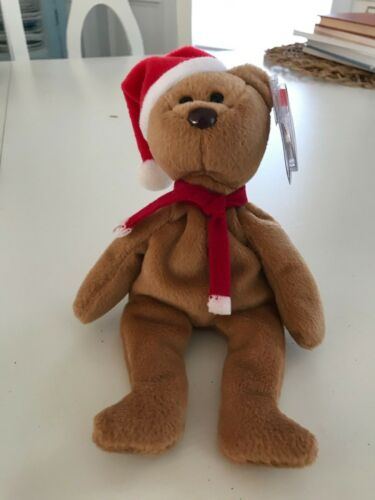 1997 Holiday Teddy Bear Retired TY Beanie Baby Babies MWMT