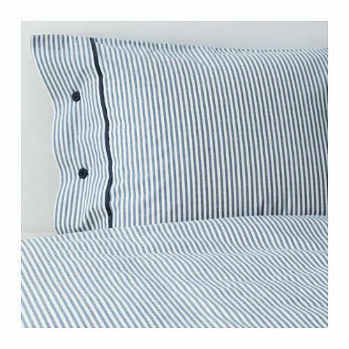 NYPONROS QUILT COVER E Federe Bianco Blu -100% COTONE-IKEA - 3 Taglie