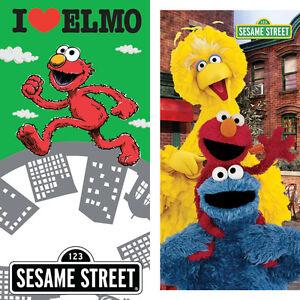 Towel-Bath-Beach-Sesame-Street-Elmo-Big-Bird-Cookie-Monster