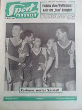 SPORT MAGAZIN KICKER 35A - 27.8. 1962 1.FCN-Frankfurt 4:2 Düsseldorf-Schalke 3:2