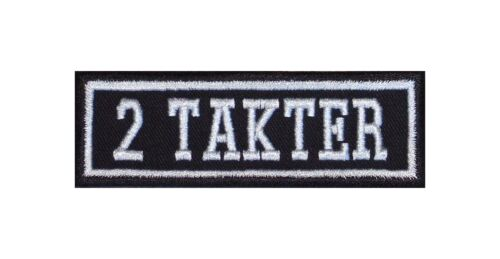 2 takter Biker Patch ricamate moto MC Rocker STAFFA immagine Heavy BADGE tonaca