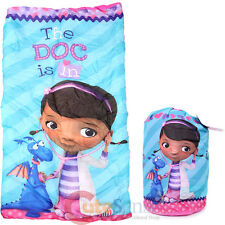 Disney Jr. Doc Mcstuffins Kids Sleeping Bag Slumber Bag with Carry Backpack