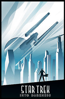 Star Trek Into Darkness Vintage Art Deco Comic Poster - A1, A2, A3, A4 sizes