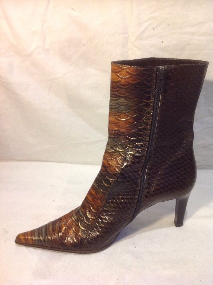 Genuine Pellini Pellini Genuine Braun Ankle Leder Stiefel Größe 40 9e5ac3