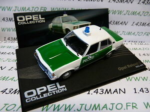 OPE101R-voiture-1-43-IXO-eagle-moss-OPEL-collection-REKORD-D-Polizei-1972-1977