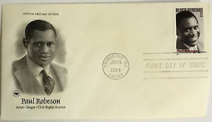 100-USPS-PCS-Paul-Robeson-2004-37c-Stamp-FDC-3824-First-Day-Issue-NEW