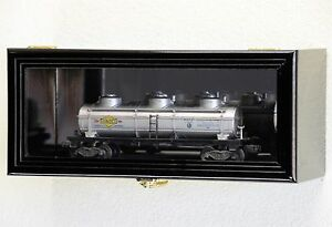 Single O Scale Train Engine Locomotive Cab Tanker Model Car Display Case Cabinet