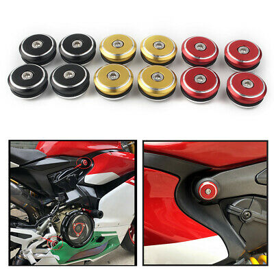 899  Frame Plugs Gold Red Black Ducati Panigale 1199