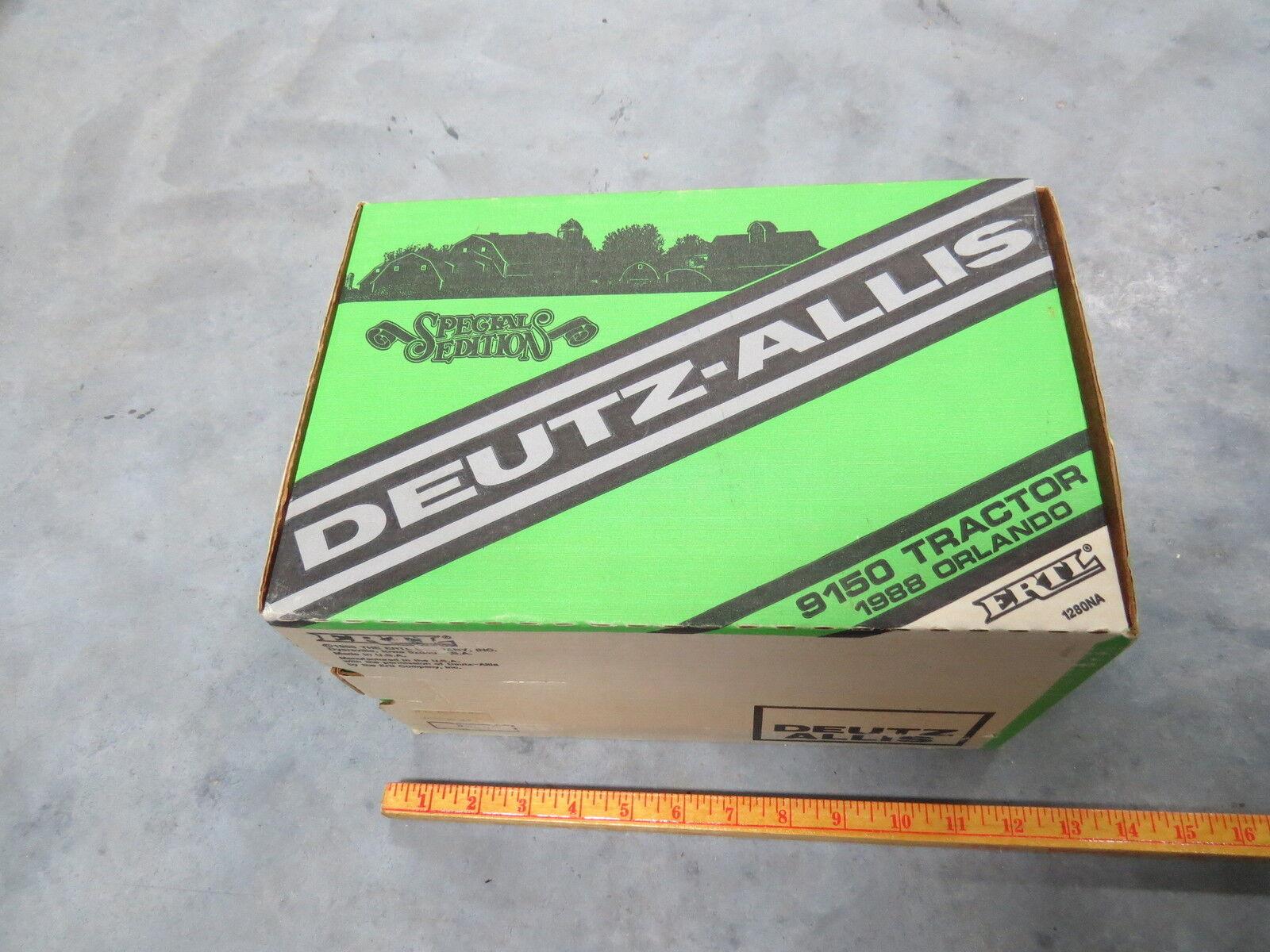 Original Vintage DEUTZ-ALLIS 9150 S.E. ORLANDO Dealer 1 16 Tractor Ertl NIB