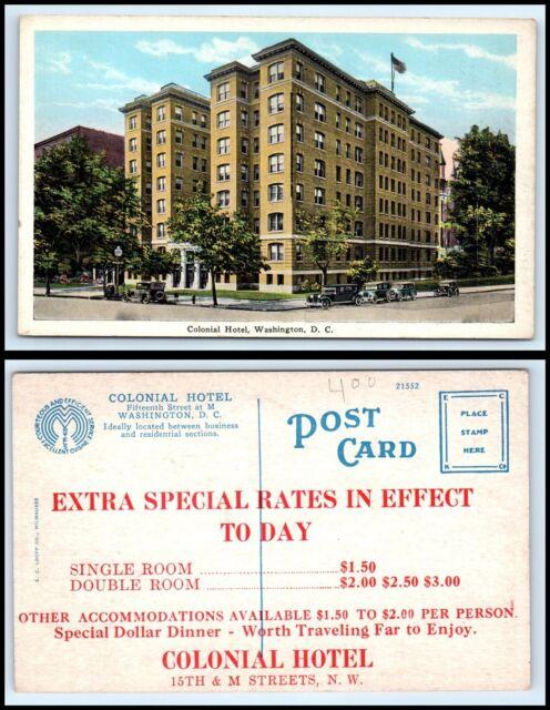 WASHINGTON DC Postcard - Colonial Hotel Q42
