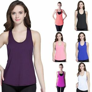 Gym-Running-Yoga-Womens-Fitness-Short-Sleeve-Active-Sports-Top-Blouse-Vest