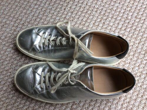 Eu38 da pelle Scarpe progetto donna in ginnastica argento comune 8wqdO