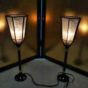 "ANTIQUE JAPANESE DOLL LOVELY LAMP Kawaii LIGHT VINTAGE Asian for hina dolls 15"""
