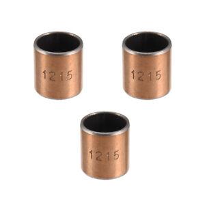 Sleeve (plain) Bearings 12mm Bore 14mm OD 15mm L Wrapped Oilless Bushings 3pcs
