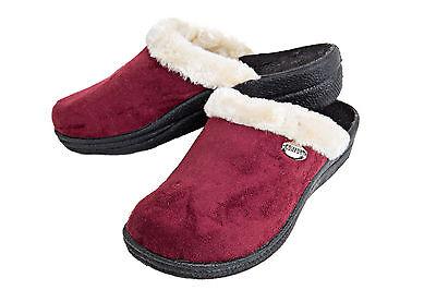 Señoras muy cómodos Chanclas Con Zapatillas de suela de goma con forro suave FOS5368
