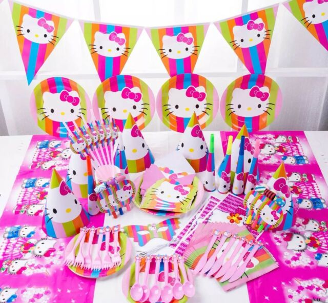16 Items 90pcs Birthday Party Tableware Set Cup,Paper Plate,Gift for 6 Guests