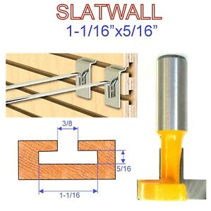 1-pc-1-2-034-Shank-T-Slot-amp-T-Track-Slotting-and-Slatwall-Cutter-Router-Bit-S