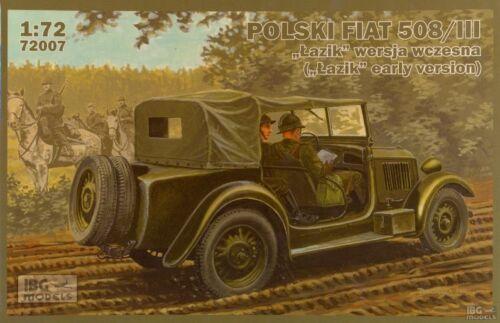 Véhicule Polonais FIAT POLSKI 508//III LAZIK KIT IBG Models 1//72 n° 72007