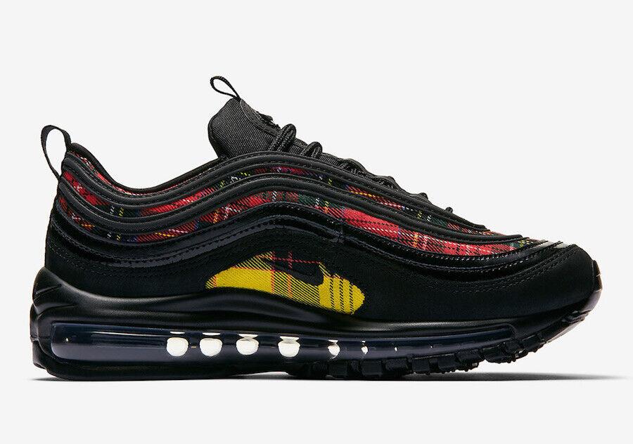 Women's Nike Air Max 97 SE Tartan Plaid Black University Red Size 5 AV8220 001