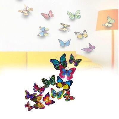 Alicemall decorazione fai da te per casa e stanze Black Purple Heart 12 adesivi da parete 3D a forma di farfalla