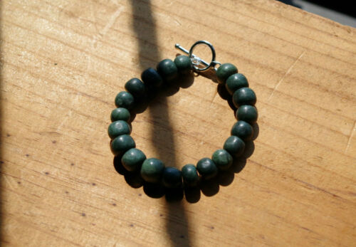 Bracelet Guatemalan jade jadeite Guatemala beads pearls 10mm Guatemalita Maya