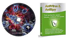 Antivirus Software Pro ++ Completo Protección Contra Todos Amenazas Internet CD