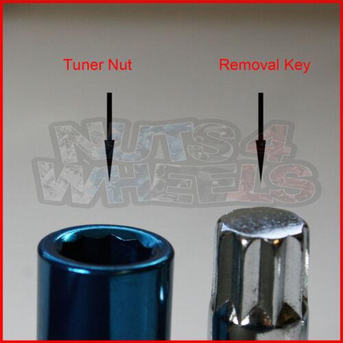 20 X Chrome Tuner écrous De Roue M12x1.5 pour HONDA CRX CIVIC CRX Del Sol S2000