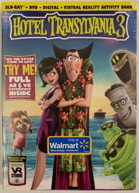 NUOVO HOTEL TRANSILVANIA 3 Blu Ray DVD 2 Disc WALMART esclusivo VR attività LIBRO