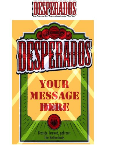 Huis Desperados Tequila Beer Bottle Label Edible Icing Cake Cupcake Toppers Taartfiguurtjes Thinkinganglicans Org Uk