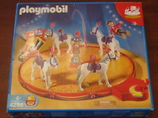 PLAYMOBIL CIRCUS ring HORSE TRAINER  nearly complete #4234 with replacements